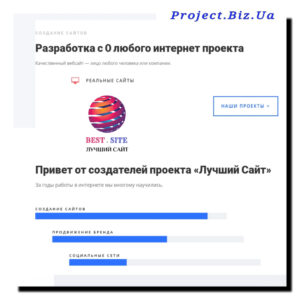 Отличный проект сайта в Украине - project biz ua